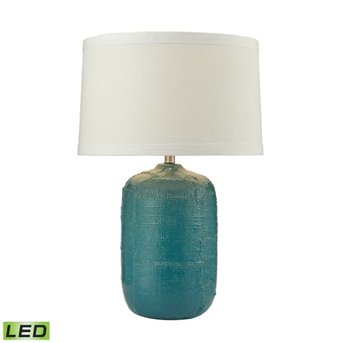 Dimond Lighting Dimond Lighting Mediterranean Blue LED Table Lamp with Empire Shade D2694-LED