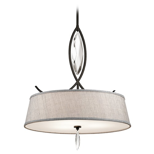 Kichler Lighting Kichler Lighting Casilda Pendant Light with Drum Shade 43566OZ