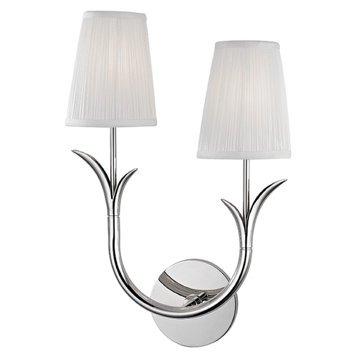 Hudson Valley Lighting Deering 2 Light Sconce - Polished Nickel 9402R-PN