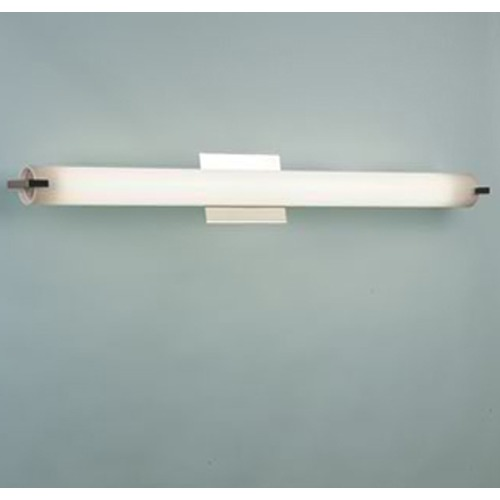 Illuminating Experiences Elf Satin Nickel Bathroom Light - Vertical or Horizontal Mounting ELF48FT5SN