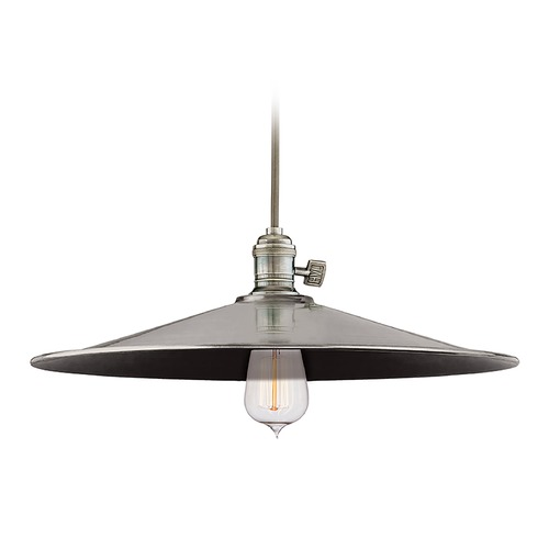 Hudson Valley Lighting Hudson Valley Lighting Heirloom Historic Nickel Pendant Light with Coolie Shade 8001-HN-ML1