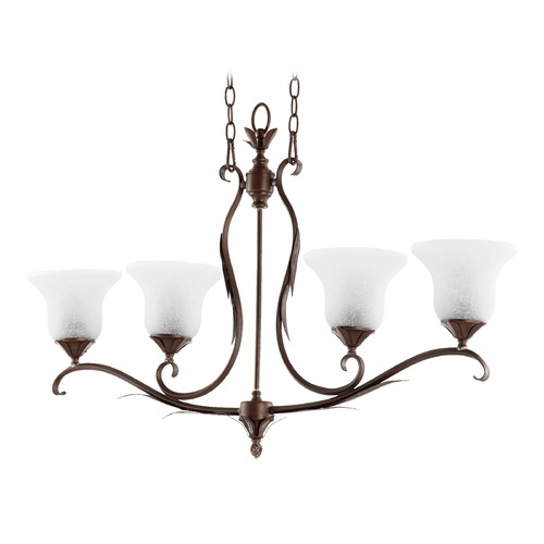Quorum Lighting Quorum Lighting Flora Vintage Copper Island Light with Bell Shade 6572-4-39