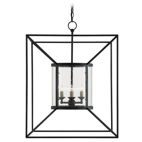 Currey and Company Lighting Currey and Company Ennis Black Bronze Pendant Light 9000-0022
