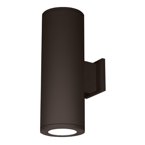 WAC Lighting 8-Inch Bronze LED Tube Architectural Up and Down Wall Light 3500K 8030LM DS-WD08-S35S-BZ