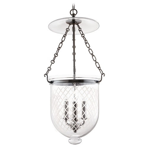 Hudson Valley Lighting Pendant Light with Clear Glass in Historic Nickel Finish 254-HN-C2