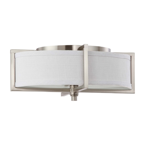Nuvo Lighting Flushmount Light with Oval Shade in Brushed Nickel Finish 60/4468