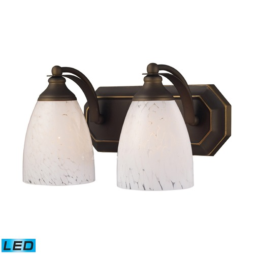Elk Lighting Elk Lighting Bath and Spa Aged Bronze LED Bathroom Light 570-2B-SW-LED