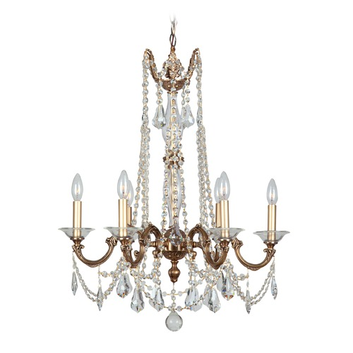 Crystorama Lighting Crystorama Lighting Delancey Roman Bronze Crystal Chandelier 2226-RB-CL-MWP