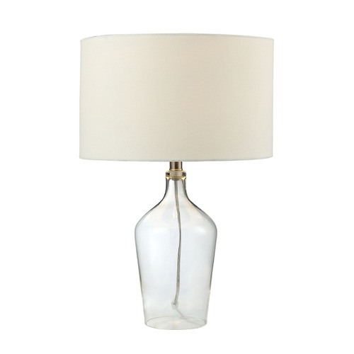 Dimond Lighting Dimond Lighting Clear Table Lamp with Drum Shade D2695