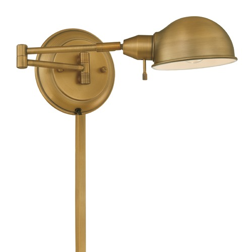 Lite Source Lighting Lite Source Lighting Rizzo Antique Brass Swing Arm Lamp LS-16753AB