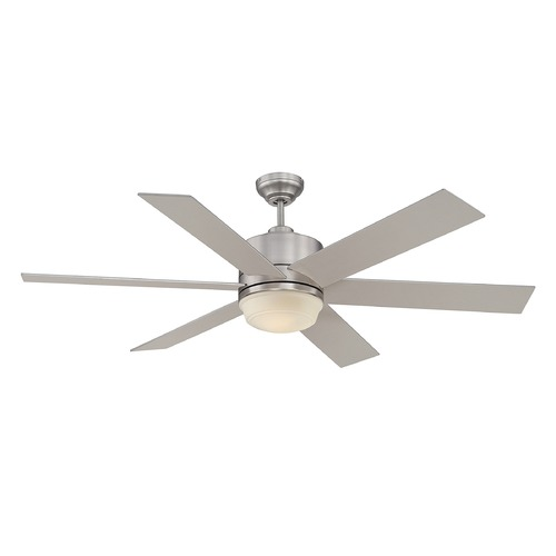 Savoy House Savoy House Satin Nickel Ceiling Fan with Light 60-820-6SV-SN