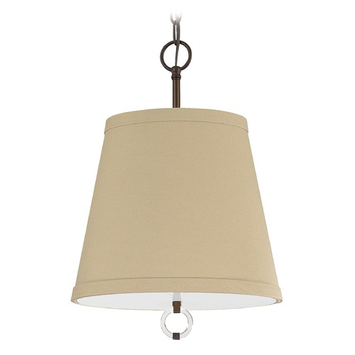 Capital Lighting Capital Lighting Taylor Burnished Bronze Pendant Light with Empire Shade 4593BB-607