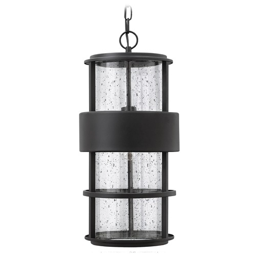 Hinkley Lighting Hinkley Lighting Saturn Satin Black Outdoor Hanging Light 1902SK