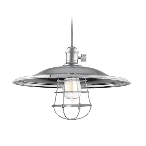 Hudson Valley Lighting Hudson Valley Lighting Heirloom Historic Nickel Pendant Light with Bowl / Dome Shade 8001-HN-MM2-WG