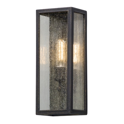 Troy Lighting Seeded Glass Outdoor Wall Light Bronze Troy Lighting B5102