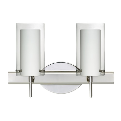 Besa Lighting Besa Lighting Pahu Chrome LED Bathroom Light 2SW-C44007-LED-CR