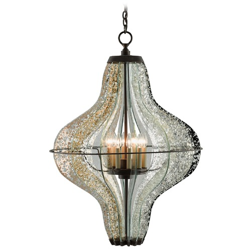 Currey and Company Lighting Currey and Company Zanzibar Light Bronzegold Pendant Light 9000-0023