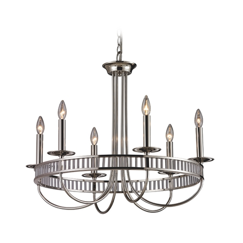 Elk Lighting Modern Chandelier in Polished Chrome Finish 10231/6