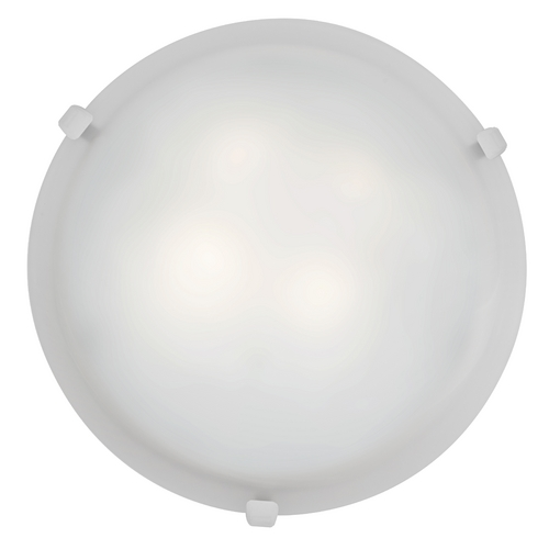 Access Lighting Modern Flushmount Light with White Glass in White Finish 23019-WH/WH