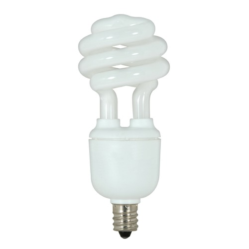 Satco Lighting 9-Watt Candelabra Base Compact Fluorescent Light Bulb S7361