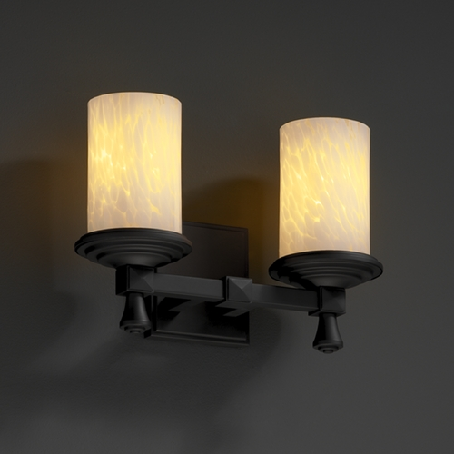 Justice Design Group Justice Design Group Fusion Collection Bathroom Light FSN-8532-10-DROP-MBLK