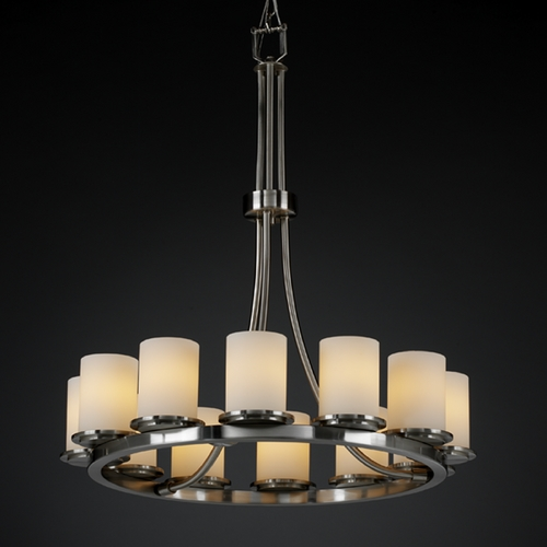 Justice Design Group Justice Design Group Fusion Collection Chandelier FSN-8763-10-OPAL-NCKL