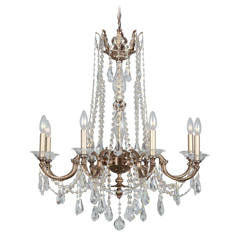 Crystorama Lighting Crystorama Lighting Delancey Roman Bronze Crystal Chandelier 2228-RB-CL-MWP