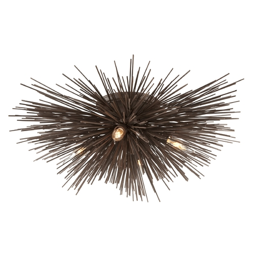 Troy Lighting Semi-Flushmount Light in Tidepool Bronze Finish C3664