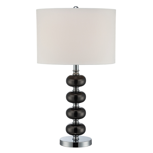 Lite Source Lighting Modern Table Lamp  in Gun Metal / Chrome Finish LS-22263