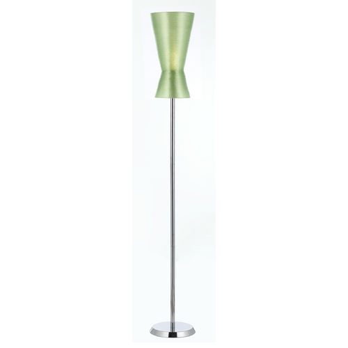 AF Lighting Modern Floor Lamp with Green Shade in Chrome Finish 8583-FL