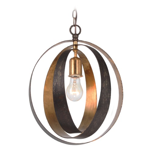 Crystorama Lighting Crystorama Lighting Luna English Bronze / Antique Gold Pendant Light 580-EB-GA