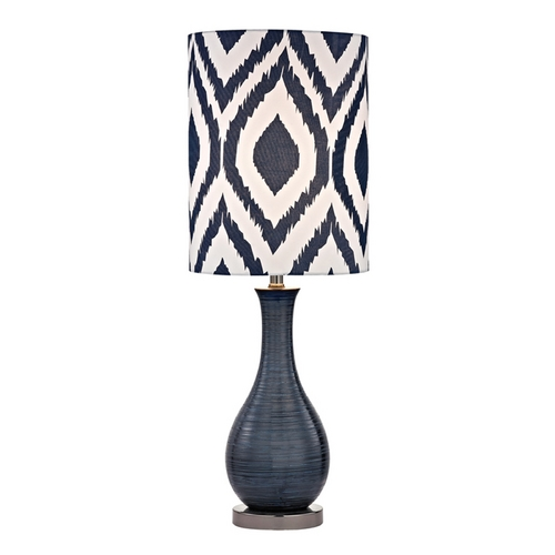 Dimond Lighting Accent Lamp in Navy Blue with Black Nickel Finish D2517