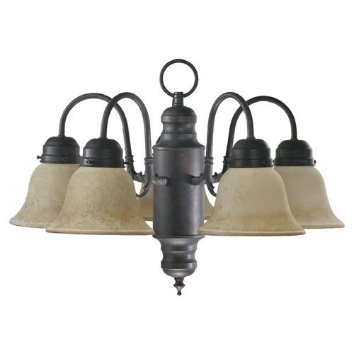 Quorum Lighting Quorum Lighting Toasted Sienna Mini-Chandelier 6426-5-44