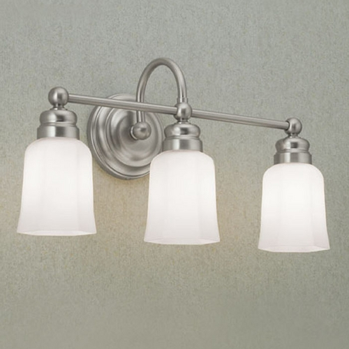 Norwell Lighting Norwell Lighting Emily Brush Nickel Bathroom Light 8913-BN-HXO