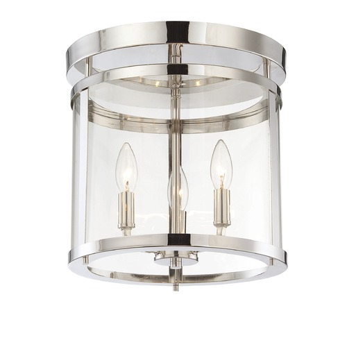 Savoy House Savoy House Polished Nickel Semi-Flushmount Light 6-1043-3-109