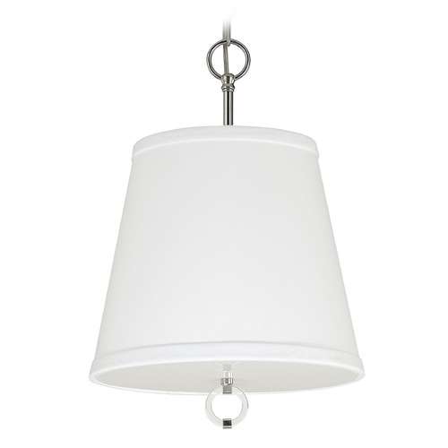 Capital Lighting Capital Lighting Taylor Polished Nickel Pendant Light with Empire Shade 4593PN-594