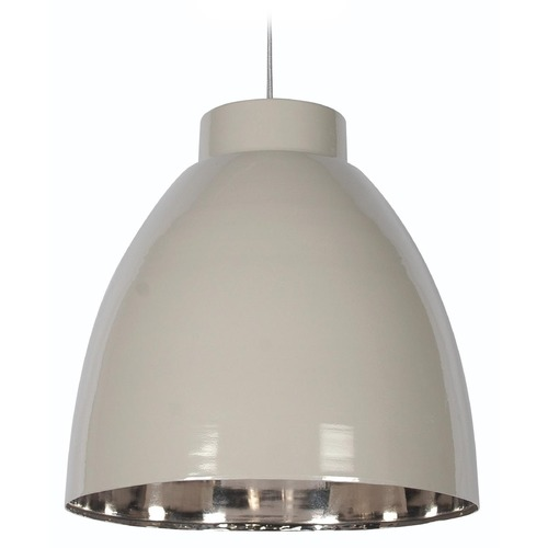 Kenroy Home Lighting Kenroy Home Lighting Silo Taupe and Nickel Pendant Light 92077TPNIK