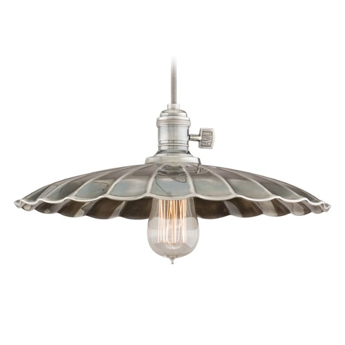 Hudson Valley Lighting Hudson Valley Lighting Heirloom Historic Nickel Pendant Light with Scalloped Shade 8001-HN-MM3