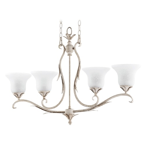 Quorum Lighting Quorum Lighting Flora Persian White Island Light with Bell Shade 6572-4-70
