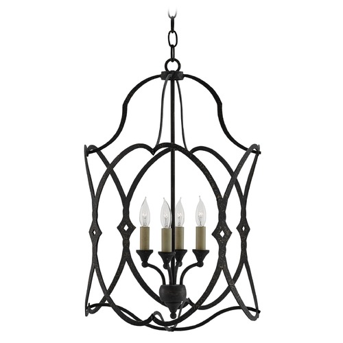 Currey and Company Lighting Currey and Company Charisma French Black Pendant Light 9000-0024