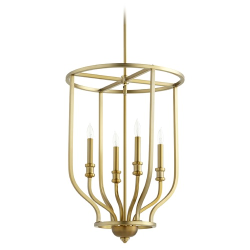 Quorum Lighting Quorum Lighting Richmond Aged Brass Pendant Light 6711-4-80