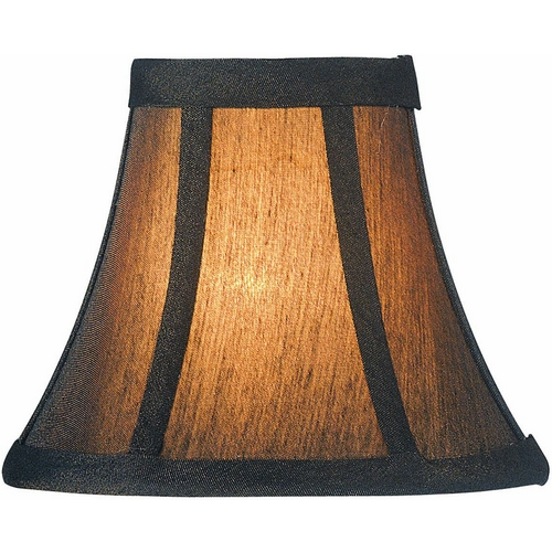 Lite Source Lighting Bronze Bell Lamp Shade with Clip-On Assembly CH594-6