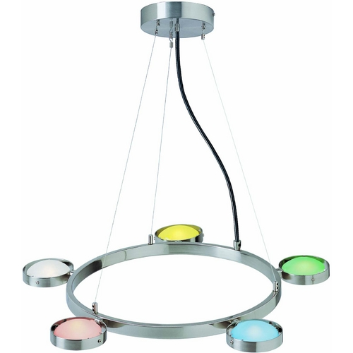Lite Source Lighting Lite Source Lighting Sherbet Multi Pendant Light with Oval Shade LS-18745MULTI