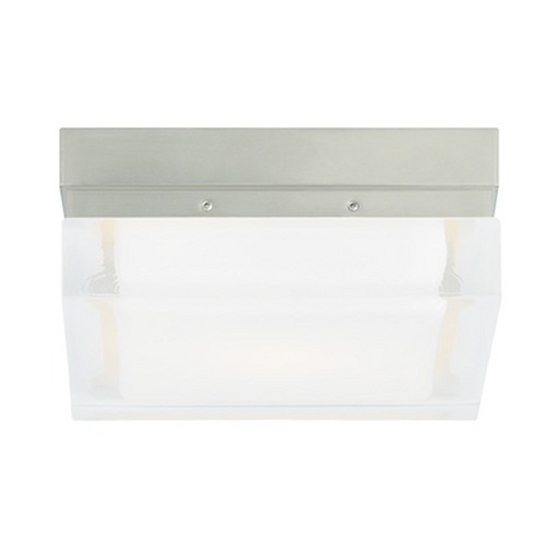 Tech Lighting Modern Flushmount Light with Clear Glass in Satin Nickel Finish 700BXSS