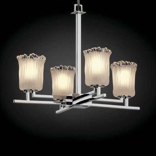 Justice Design Group Justice Design Group Veneto Luce Collection Chrome Chandelier GLA-8700-16-WTFR-CROM