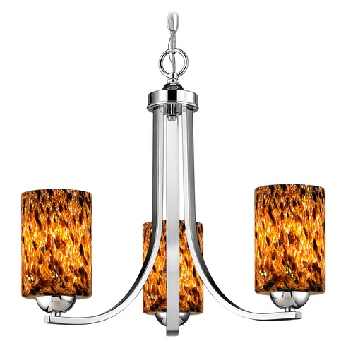 Design Classics Lighting Design Classics Dalton Fuse Chrome Mini-Chandelier 5843-26 GL1005C