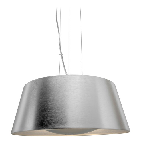 Access Lighting Access Lighting Soho Brushed Silver Pendant Light with Drum Shade 23765-BSL