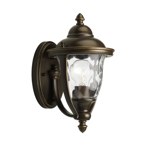 Progress Lighting Progress Oil Rubbed Bronze Outdoor Wall Light with White Glass P5920-108