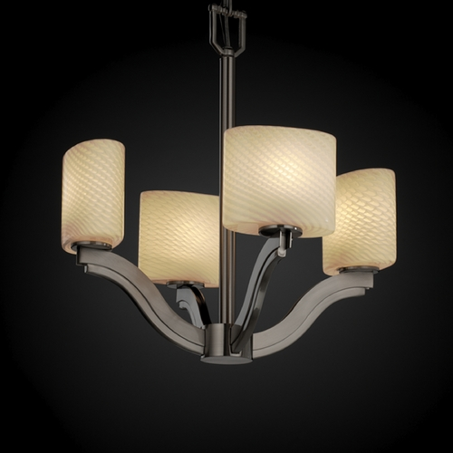 Justice Design Group Justice Design Group Fusion Collection Chandelier FSN-8970-30-WEVE-NCKL