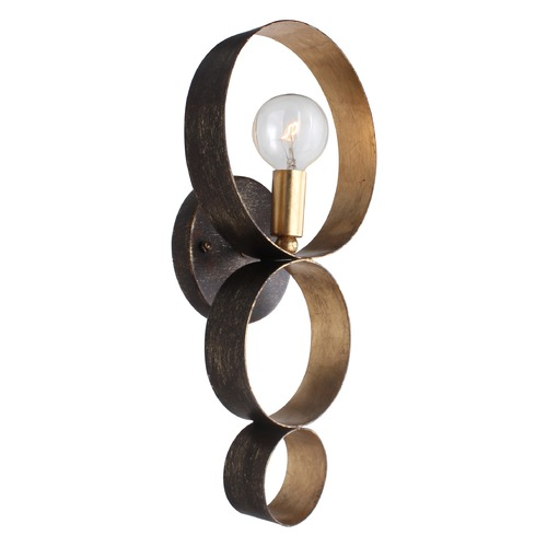 Crystorama Lighting Crystorama Lighting Luna English Bronze / Antique Gold Sconce 581-EB-GA